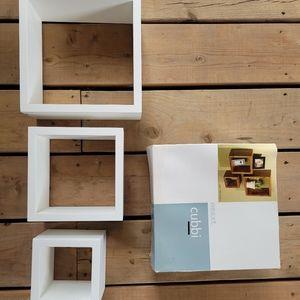 Square Cube Wall Shelves Set of 3